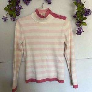 A Liz Claiborne Pink long sleeved striped shirt